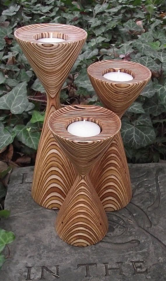 21 23 Stunning Wooden Candle Holders and Candle Holder Centerpiece Detailed Guide homesthetics decor (16)