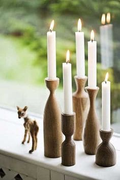 21 23 Stunning Wooden Candle Holders and Candle Holder Centerpiece Detailed Guide homesthetics decor (4)