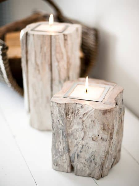 21 23 Stunning Wooden Candle Holders and Candle Holder Centerpiece Detailed Guide homesthetics decor (5)