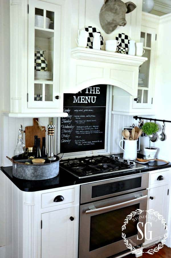 Paint the glass of an old window and obtain a stunning menu for the week