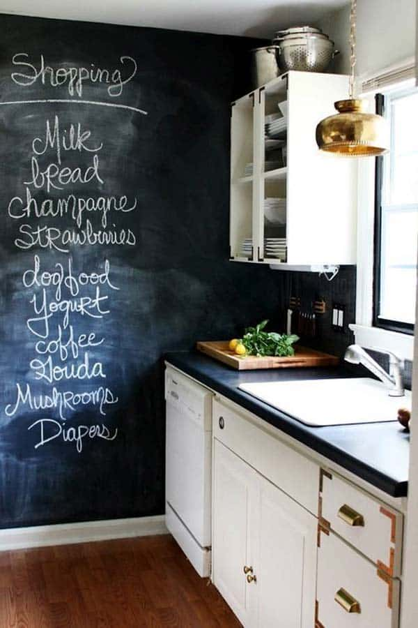 21 Simply Beautiful Ways To Use Chalkboard Paint On A Kitchen Homesthetics Decor 20