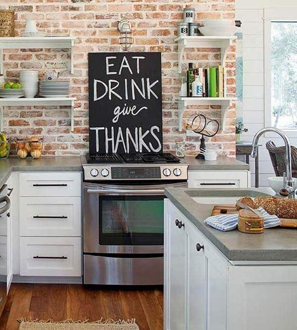 Simple canvas received chalkboard paint and can now be used as a decor piece anywhere