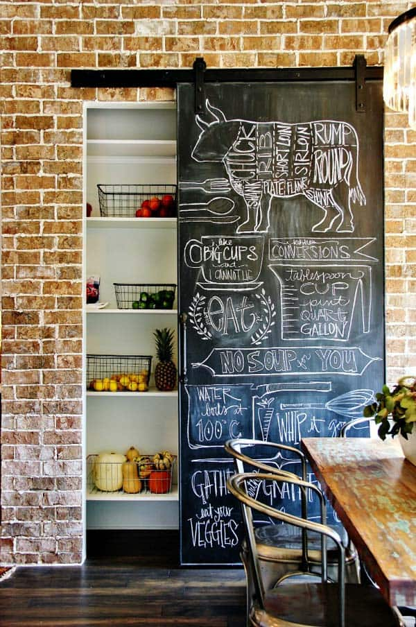A sliding door can become a beautiful focal point in your decor