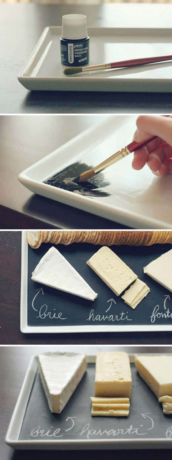 Transform a serving table into a neat presentation table