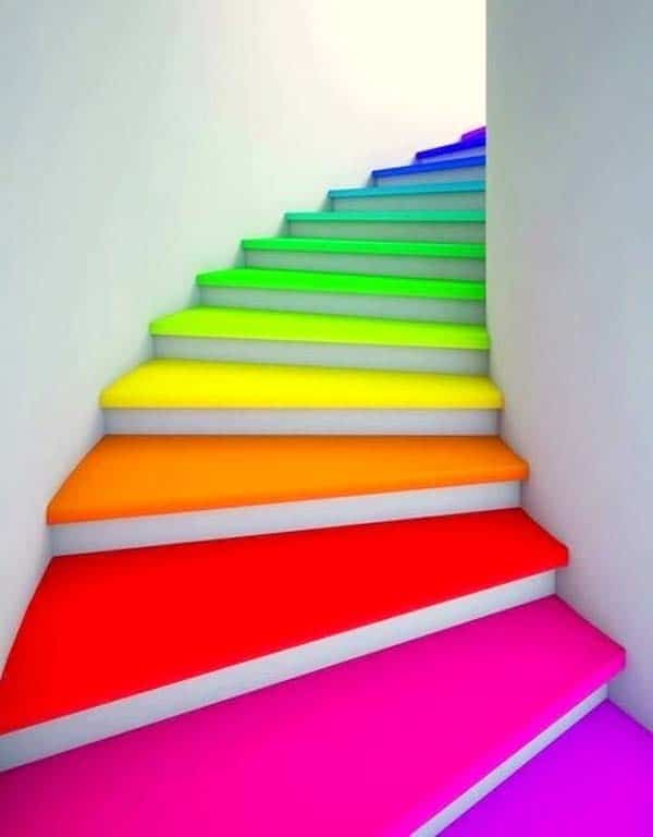 21 splendid ways to add rainbow colors in your home decor homesthetics magazine 12 - Rainbow Color