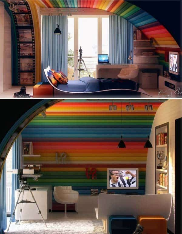 21 Splendid Ways to Add Rainbow Colors in Your Home Decor homesthetics magazine (21)