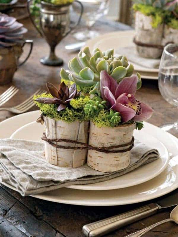 24 Beautiful Decorative Wooden Stump Vases Crafts For Your Household homesthetics crafts (15)