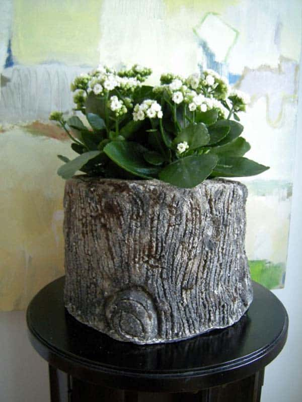 24 Beautiful Decorative Wooden Stump Vases Crafts For Your Household homesthetics crafts (20)