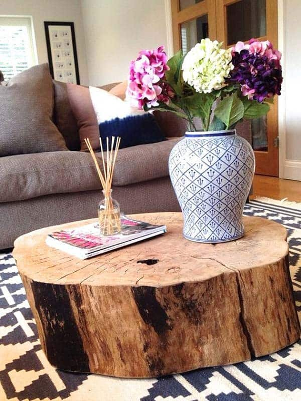 24 Beautiful Decorative Wooden Stump Vases Crafts For Your Household homesthetics crafts (21)