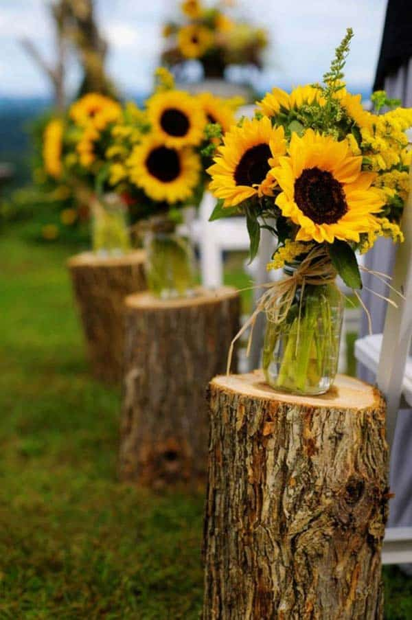 24 Beautiful Decorative Wooden Stump Vases Crafts For Your Household homesthetics crafts (24)