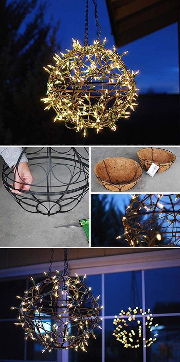 11 Build A String Art Globe For Your Patio