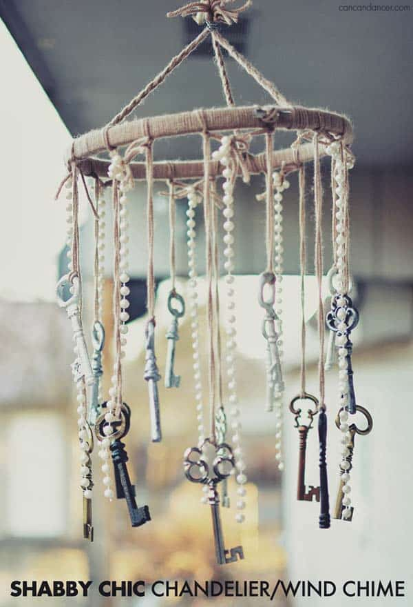 #19 CREATE A BEAUTIFUL SHABBY CHIC CHANDELIER