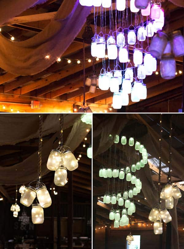 #6 DIY MASON JAR LIGHTING FIXTURES