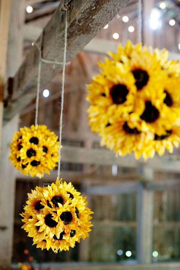 #7 REALIZE SUNFLOWER GLOBES AND SUSPEND THEM