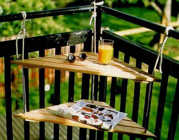 26 Small Furniture Ideas to Pursue For Your Small Balcony homesthetics magazine (10)