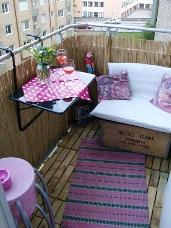 26 Small Furniture Ideas to Pursue For Your Small Balcony homesthetics magazine (14)