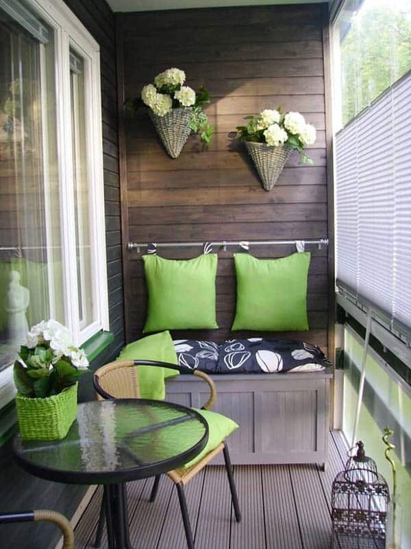 26 Small Furniture Ideas to Pursue For Your Small Balcony homesthetics magazine (21)