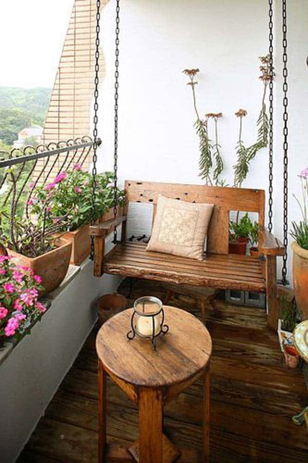 26 small furniture ideas to pursue for your small balcony for Small furniture