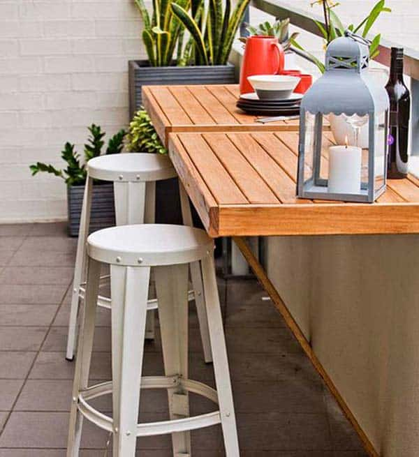 26 Small Furniture Ideas to Pursue For Your Small Balcony homesthetics magazine (24)