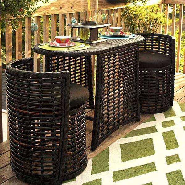 Nice  Small Furniture Ideas to Pursue For Your Small Balcony homesthetics magazine