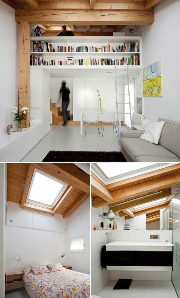 HYBRID SPACES USE RAW WOODEN STRUCTURES FOR VISUAL COMFORT AND SPACE EFFICIENCY