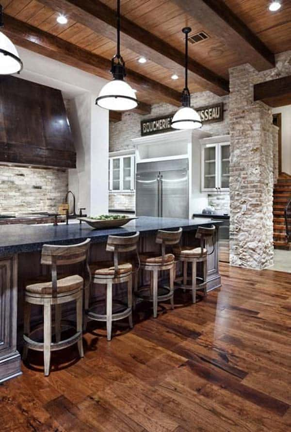 Awesome Wooden Ceiling And Flooring Containing Mineral Elements