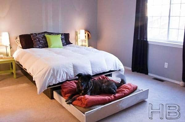 CREATE A SMALL REFUGE FOR YOUR PET for The Foot of the Bed homesthetics decor (11)