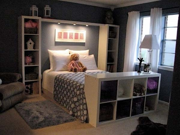 USE INEXPENSIVE IKEA SOLUTIONS TO EMPHASIZE STORAGE