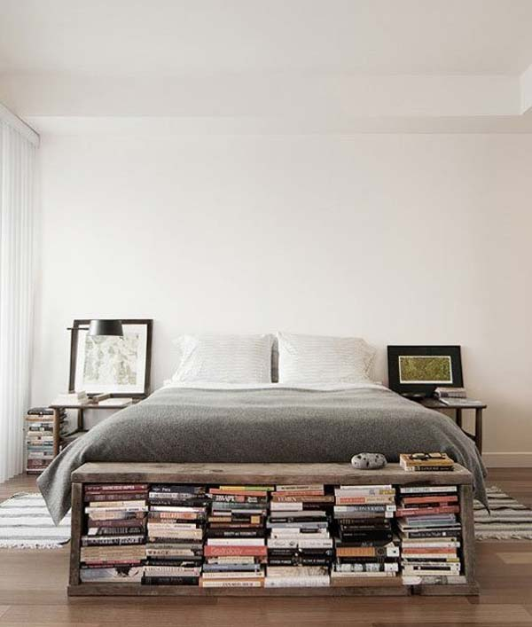 #7 Create A Small Library In Your Bedroom