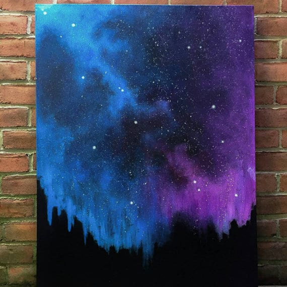 Add color to your home with 15 beautiful canvas painting for How to paint galaxy