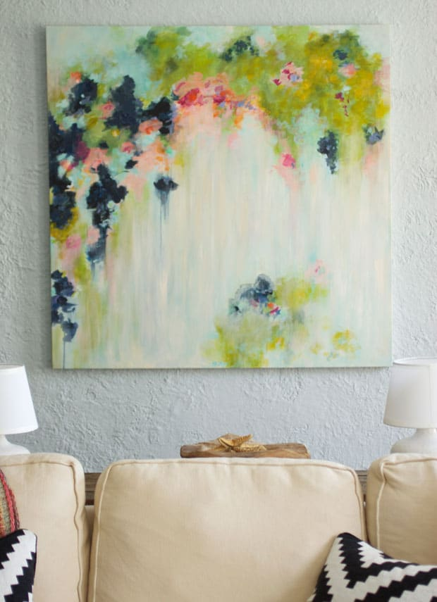 3. DELICATE PASTEL CANVAS PAINTING IDEA