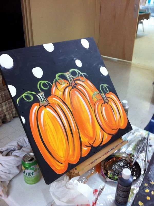8. PAINT JUICY PUMPKINS