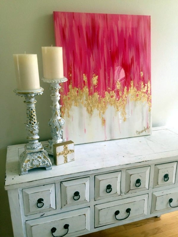 Delight your senses with canvas painting ideas for beginners 7 a transition from white tones to red and pink solutioingenieria