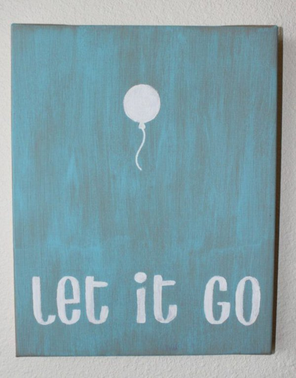 28. LET IT GO DIY WALL ART