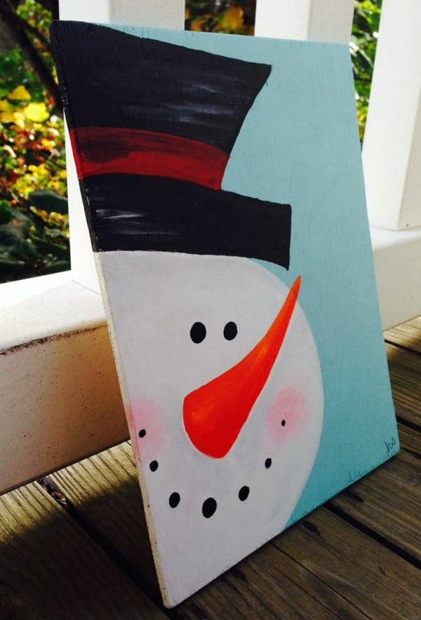 26. A CUTE IDEA FOR A CANVAS PAINTING FOR BEGINNERS