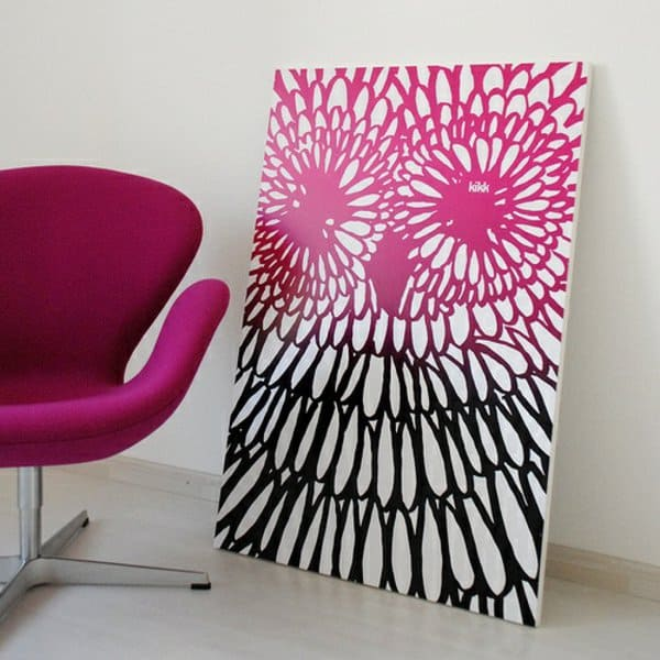 19. ABSTRACT WALL ART IS A GREAT IDEA FOR A CANVAS PAINTING IDEA FOR BEGINNERS