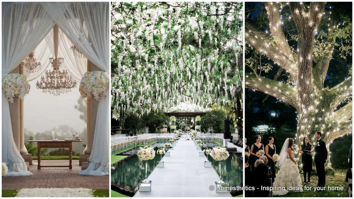23 stunningly beautiful decor ideas for the most for Indoor outdoor wedding venues