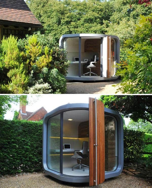 Insanely Beautiful Sublime Backyard Shed Office In Which You Would Love to Work homesthetics decor (10)