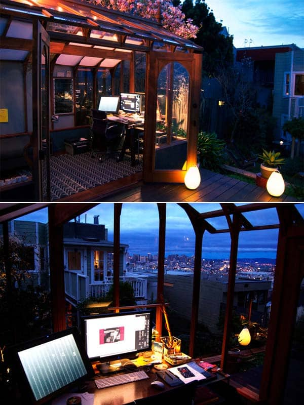 Insanely Beautiful Sublime Backyard Shed Office In Which You Would Love to Work homesthetics decor (2)