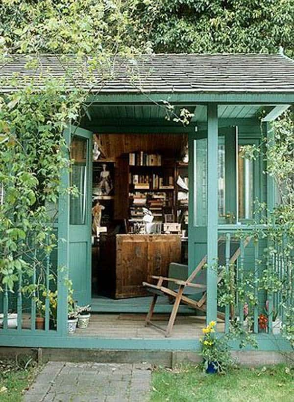 Insanely Beautiful Sublime Backyard Shed Office In Which You Would Love to Work homesthetics decor (5)