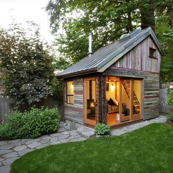 Insanely Beautiful Sublime Backyard Shed Office In Which You Would Love to Work homesthetics decor (7)
