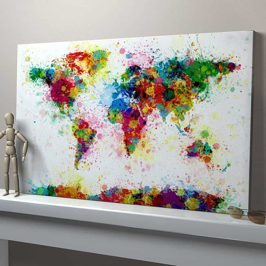 Learn the basics of canvas painting ideas and projects for Abstract mural ideas