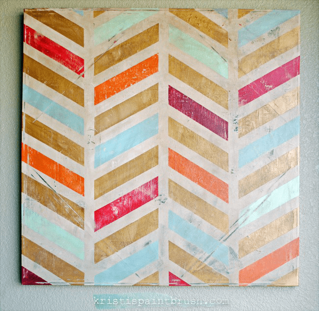 22. COOL CANVAS PAINTING IDEAS PROJECTS USING TAPE