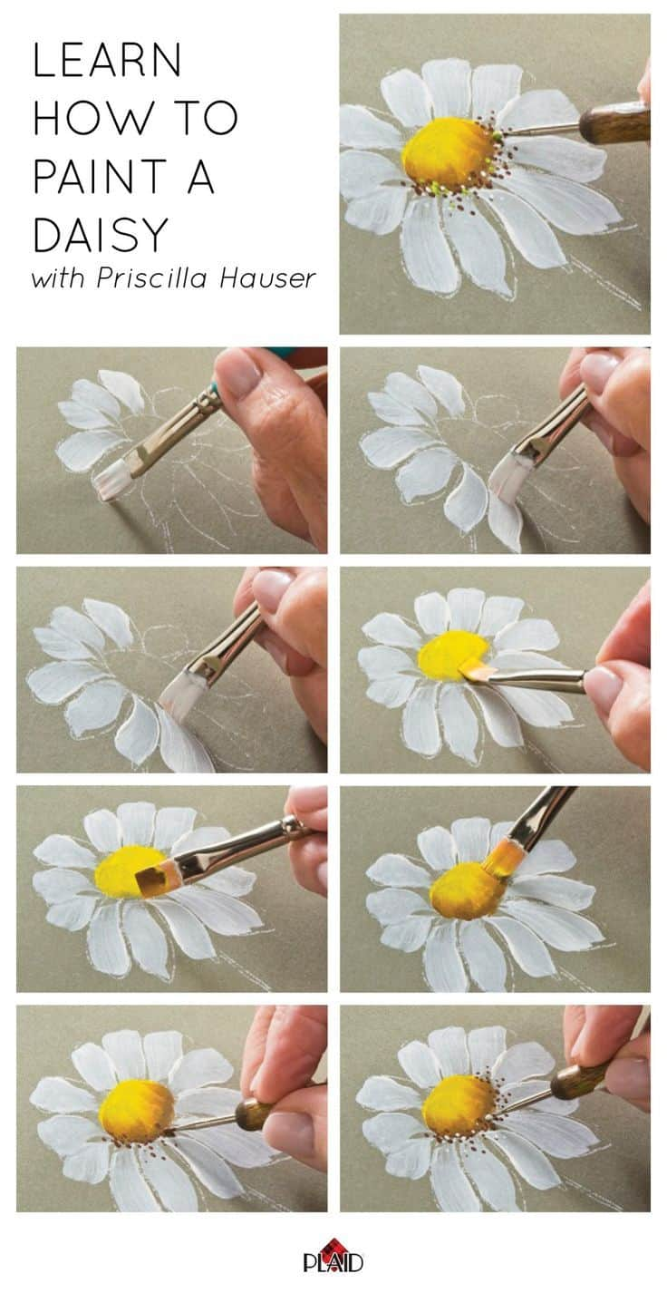 1 Start By Learning How To Paint A Simple Flower