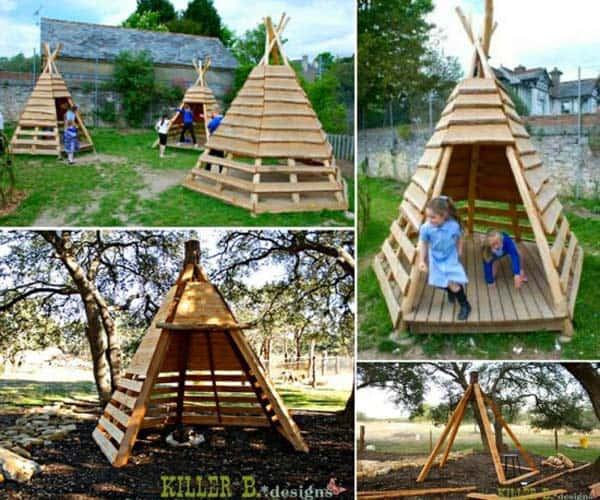 16 creative kids wooden playhouses designs for your yard homesthetics inspiring ideas for. Black Bedroom Furniture Sets. Home Design Ideas