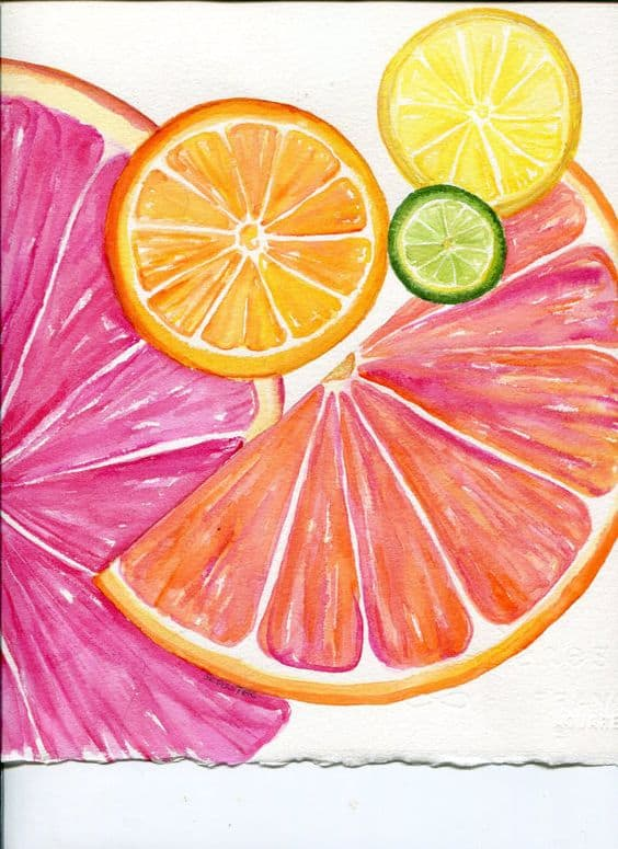 #5 USE FAMILIAR ITEMS LIKE CITRUS FRUITS WHEN LEARNING TO DRAW USING DYE