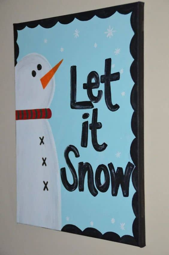 #5 MAKE USE OF THE WINTER SEASON BY CREATING YOUR FAVORITE SNOWMAN WITH SOME DYE AND A PAINTBRUSH