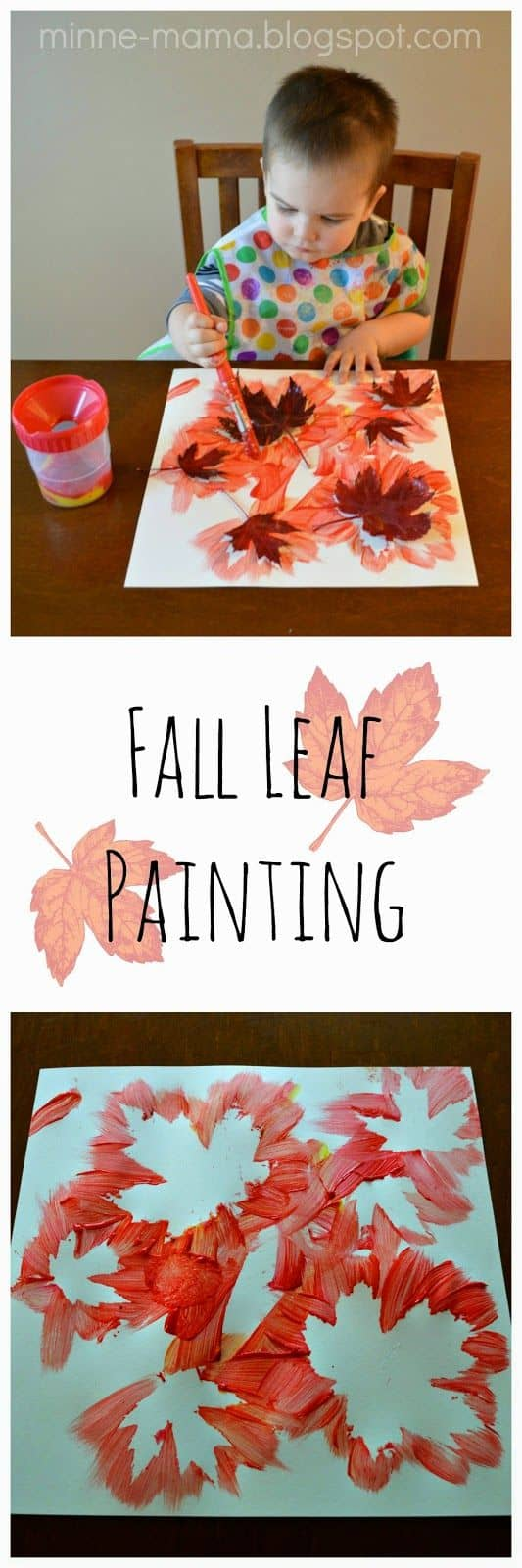 #16 FABRICATE AN ARTISTIC MASTERPIECE USING AUTUMN LEAVES ON A WHITE SHEET OF PAPER WITH DAB BRIGHT ORANGE COLORS AROUND THEM