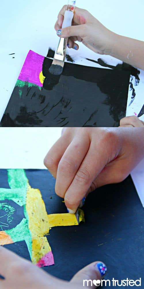 #6 VISUALIZE PAINTING A WHITE CANVAS BLACK TO HIGHLIGHT BRIGHT COLORS