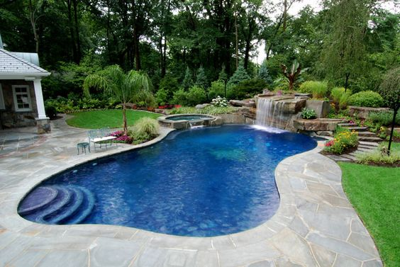 Swimming Pool Ideas For A Small Backyard Homesthetics - Backyard swimming pool ideas